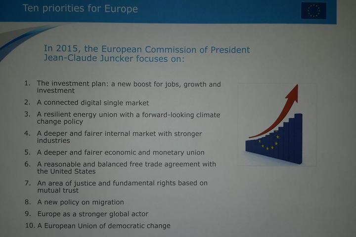 Claude Junker's 10 priorities