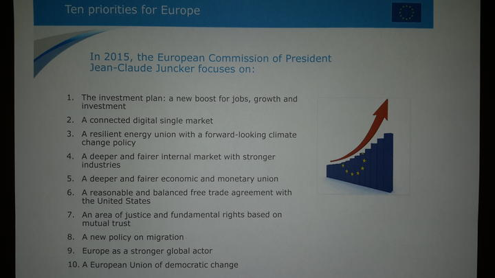 Claude Junker's 10 priorities