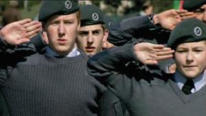 Cadet forces saluting